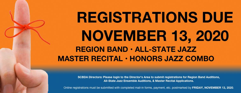 11 2020 Registration Reminder