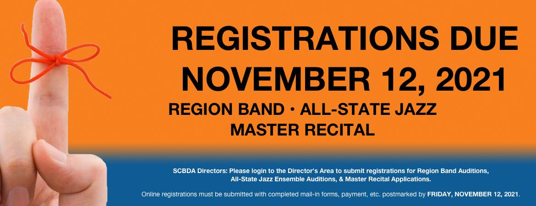 Registration Reminder for November 12