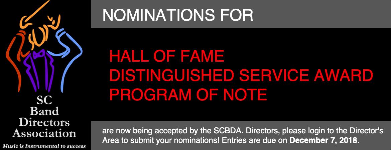 December Nomination Reminder