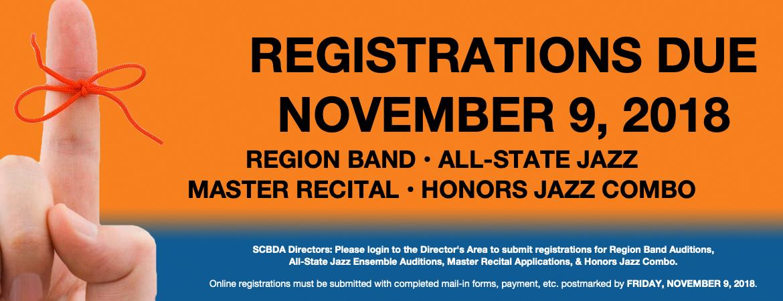 Fall Registration Reminder