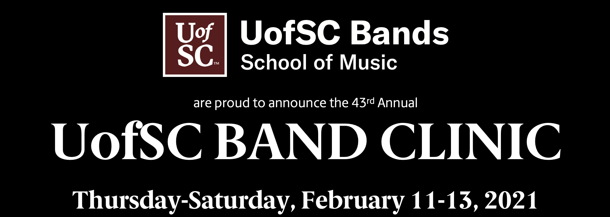 UofSC Band Clinic Information Banner