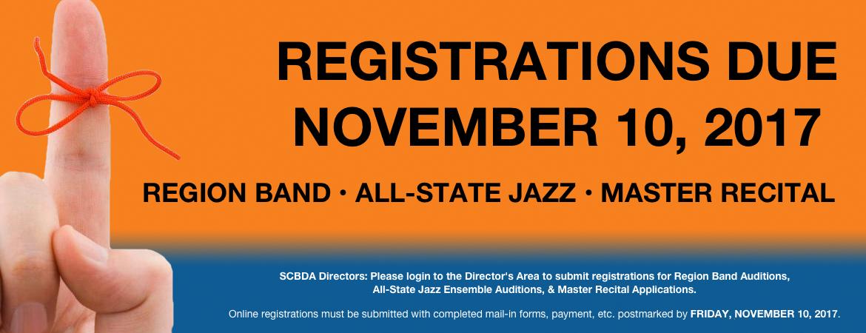 2017 Registration Reminder
